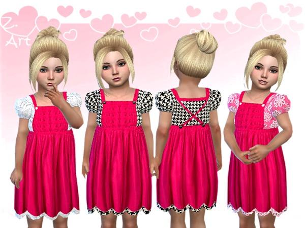 Sims 4 BabeZ 24 apron dress by Zuckerschnute20 at TSR