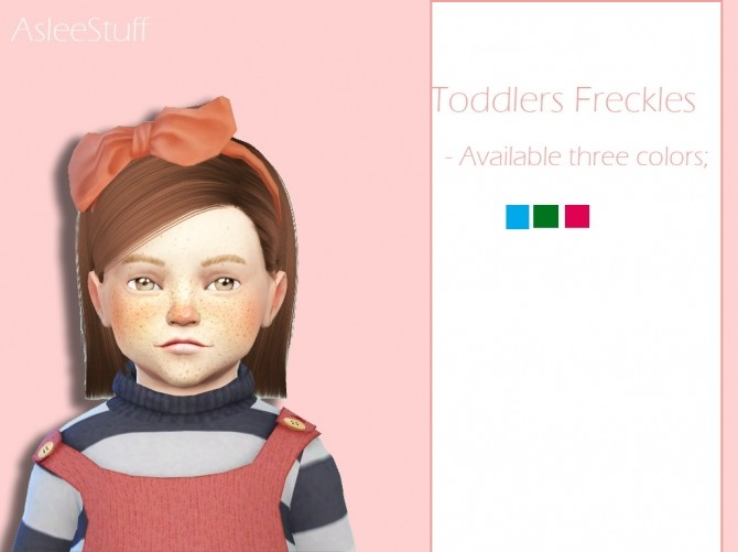 Intense Freckles for Toddlers at Aslee image 122 670x501 Sims 4 Updates
