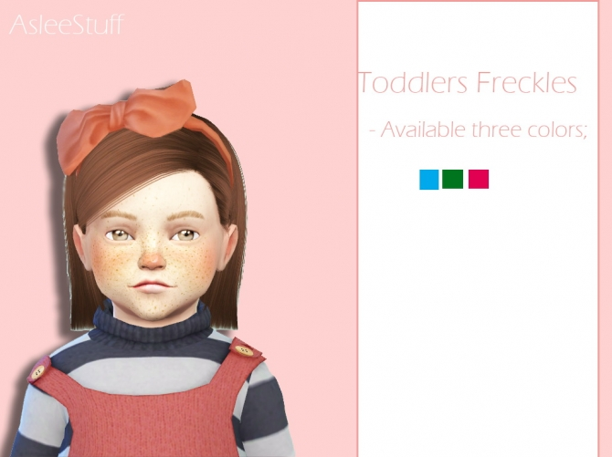 Intense Freckles For Toddlers At Aslee 187 Sims 4 Updates