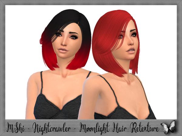 Sims 4 Nightcrawler Moonlight Hair Retexture by mikerashi at TSR