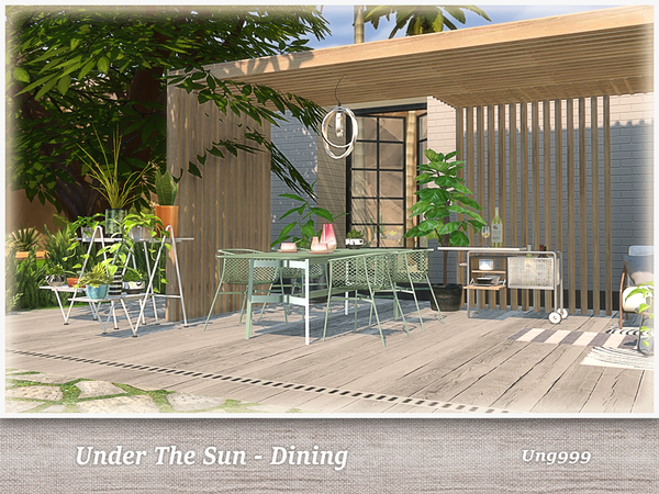 UNder The Sun Dining by ung999 at TSR image 1240 Sims 4 Updates