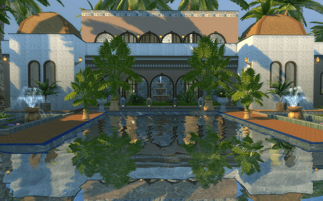 Sims 4 Morocco Palace at Rabiere Immo Sims