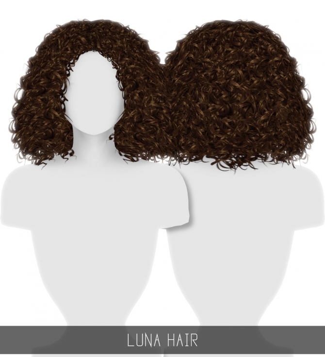 Curly Hair Download Sims 4 Cc: LUNA HAIR At Simpliciaty » Sims 4 Updates