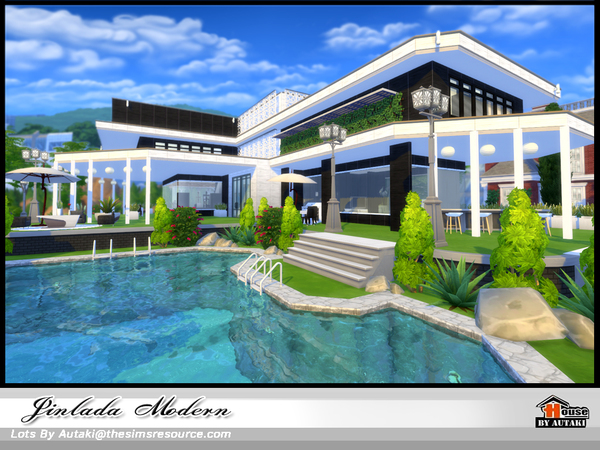 Jinlada Modern house by autaki at TSR image 1310 Sims 4 Updates