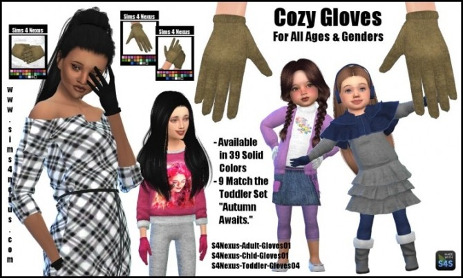 Sims 4 Cozy Gloves by SamanthaGump at Sims 4 Nexus