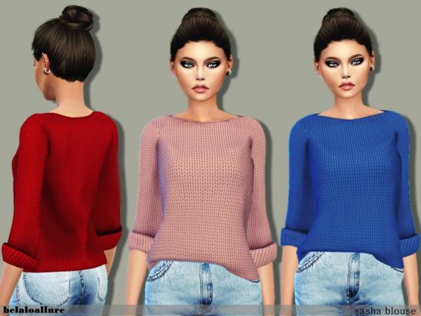 Sims 4 Sasha blouse by belal1997 at TSR