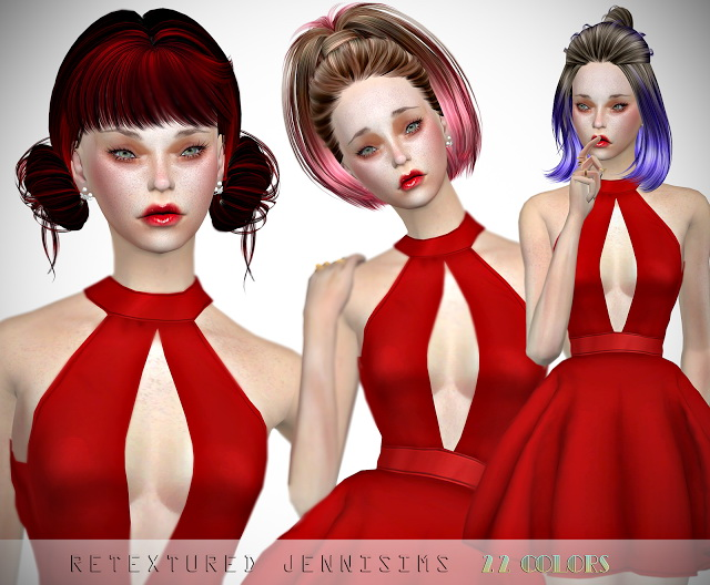 Sims 4 Butterflysims 200 Skysims 109, 119 Hair retextures at Jenni Sims