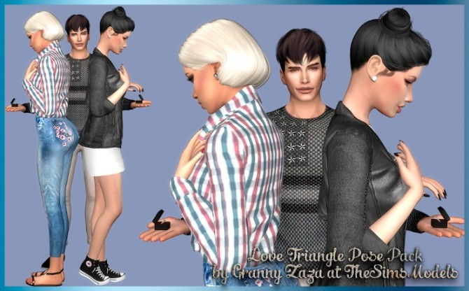 Love Triangle Pose Pack Part 2 by Granny Zaza at The Sims Models image 138 670x416 Sims 4 Updates