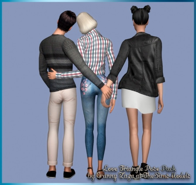 Love Triangle Pose Pack Part 2 by Granny Zaza at The Sims Models image 139 670x633 Sims 4 Updates