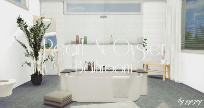 Peral & Oyster Bathroom at Pyszny Design image 1401 670x355 Sims 4 Updates