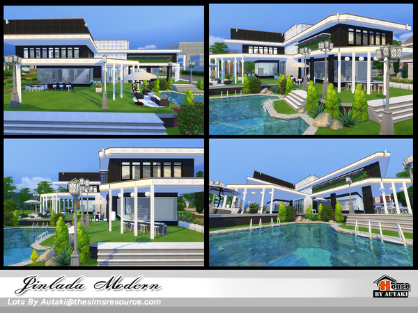 Jinlada Modern house by autaki at TSR image 1410 Sims 4 Updates