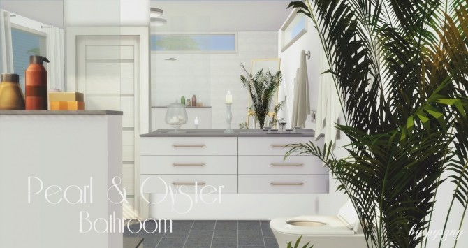 Peral & Oyster Bathroom at Pyszny Design image 1413 670x355 Sims 4 Updates