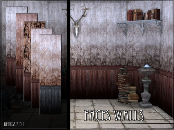 Faces Walls by RemusSirion at TSR image 1418 Sims 4 Updates