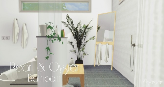 Peral & Oyster Bathroom at Pyszny Design image 1431 670x355 Sims 4 Updates