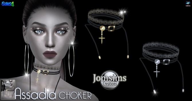 Sims 4 ASSADIA Choker at Jomsims Creations