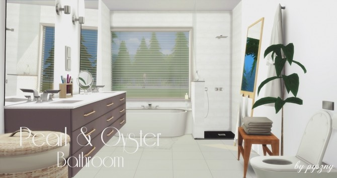 Peral & Oyster Bathroom at Pyszny Design image 1441 670x355 Sims 4 Updates