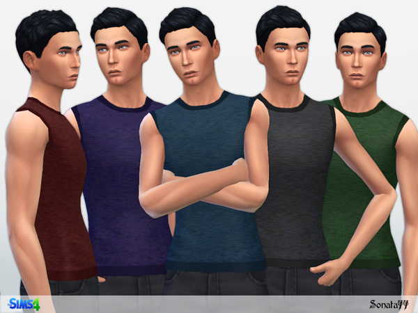 Male 14 tank top by Sonata77 at TSR image 1448 Sims 4 Updates