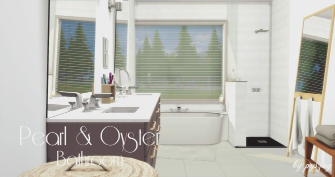 Peral & Oyster Bathroom at Pyszny Design image 1451 670x355 Sims 4 Updates