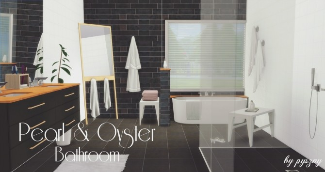 Peral & Oyster Bathroom at Pyszny Design image 1461 670x355 Sims 4 Updates