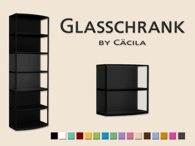 Sims 4 Glass cabinet by Cäcilia at Akisima