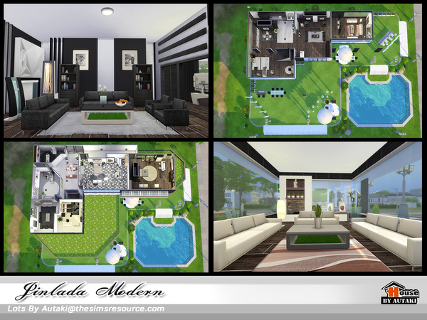 Jinlada Modern house by autaki at TSR image 1510 Sims 4 Updates