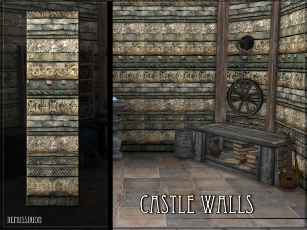 Castle Walls by RemusSirion at TSR image 1517 Sims 4 Updates