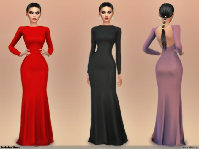 Eva Dress By Belal1997 At Tsr 187 Sims 4 Updates
