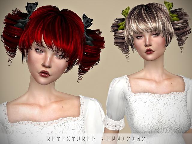 Sims 4 Newsea Mitsuki Hair retexture at Jenni Sims