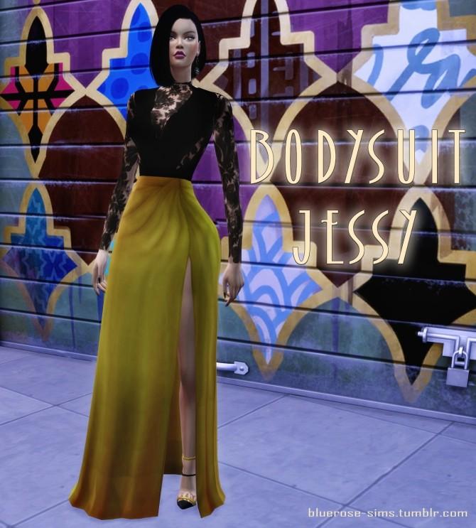 Sims 4 Jessy Bodysuit at BlueRose Sims