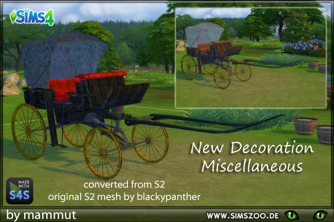 Blackys carriage by mammut at Blacky's Sims Zoo image 1576 Sims 4 Updates
