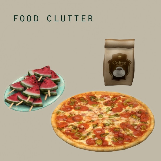 food clutter at leo sims sims 4 updates. Black Bedroom Furniture Sets. Home Design Ideas