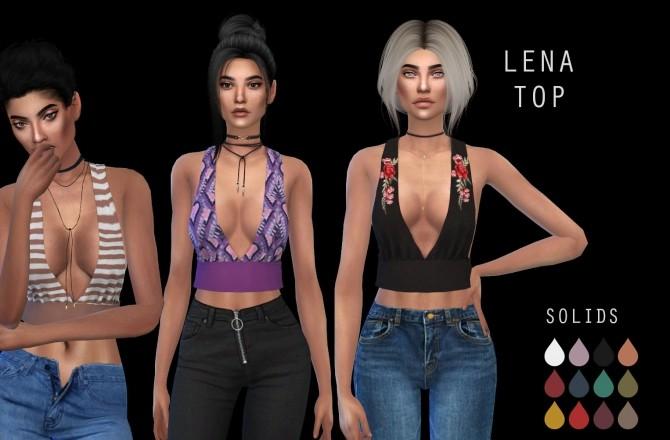 Sims 4 Lena Top at Leo Sims