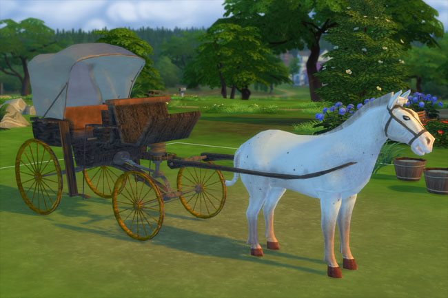 Sims 4 Blackys carriage by mammut at Blacky's Sims Zoo