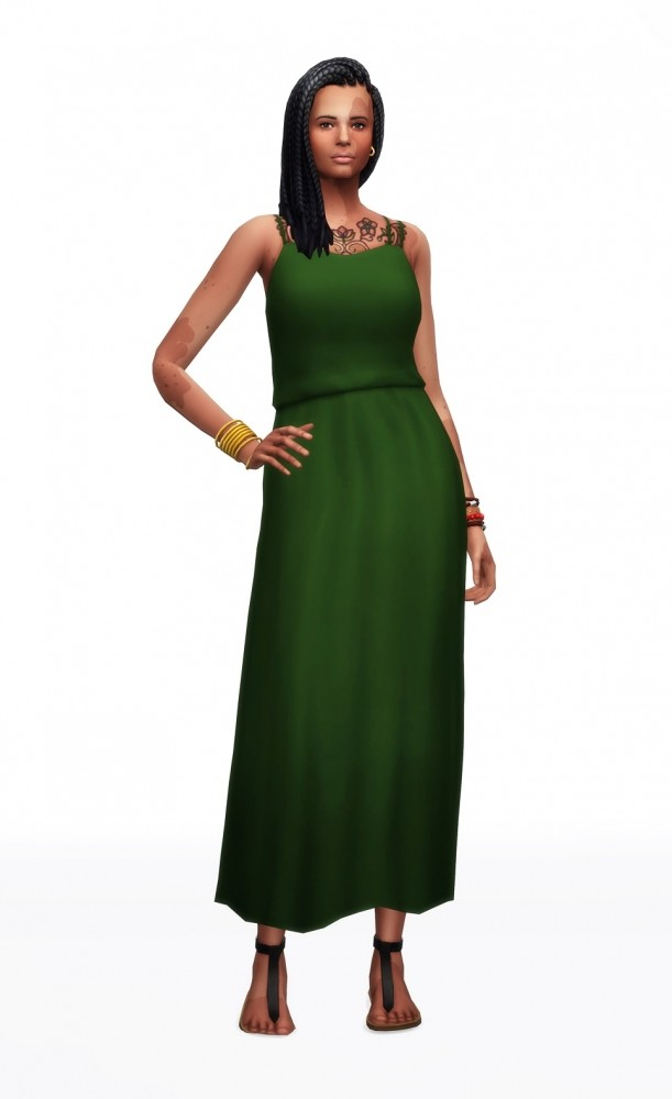 Basic maxi dress V2 30 colors at Rusty Nail image 1601 611x1000 Sims 4 Updates