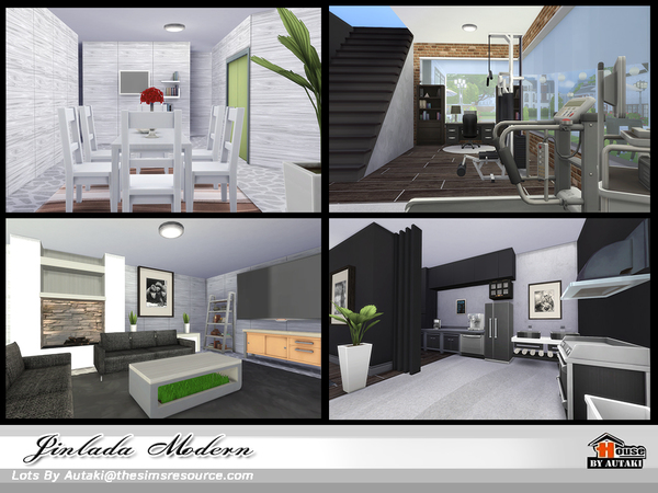 Sims 4 Jinlada Modern house by autaki at TSR