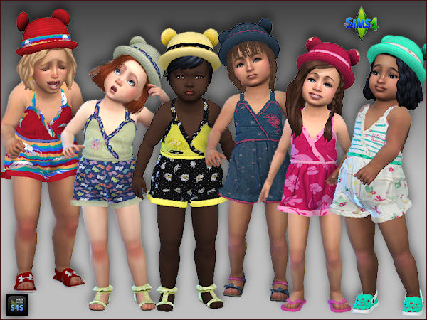 6 short jumpers and hats for toddler girls by Mabra at Arte Della Vita image 16113 Sims 4 Updates