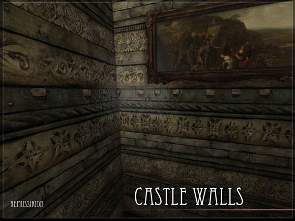 Castle Walls by RemusSirion at TSR image 1616 Sims 4 Updates