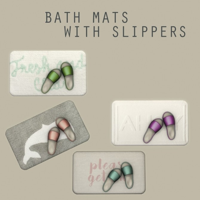 Sims 4 Bath Mat With Slippers at Leo Sims