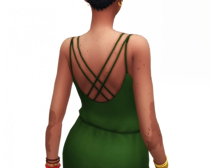 Basic maxi dress V2 30 colors at Rusty Nail image 1621 670x536 Sims 4 Updates