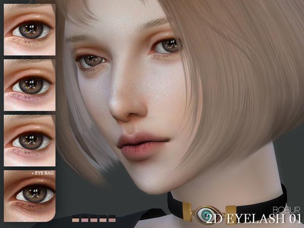 Sims 4 2D Eyelash 01 by Bobur3 at TSR