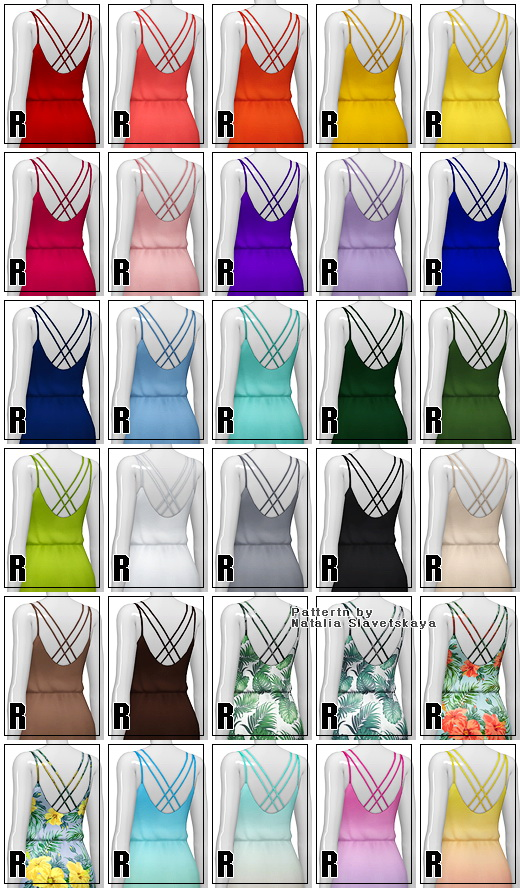 Basic maxi dress V2 30 colors at Rusty Nail image 1631 Sims 4 Updates
