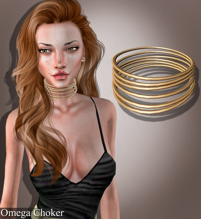 Choker, necklace, septum and earrings at Deep Space image 1632 670x731 Sims 4 Updates
