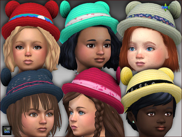 6 short jumpers and hats for toddler girls by Mabra at Arte Della Vita image 1637 Sims 4 Updates
