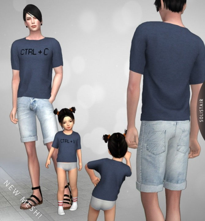 Daddy&Me T Shirts at Solistair image 1647 670x721 Sims 4 Updates