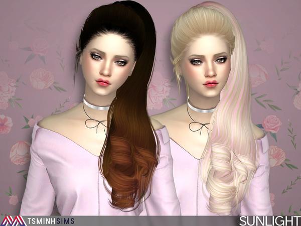 Sims 4 Sunlight Hair 42 by TsminhSims at TSR