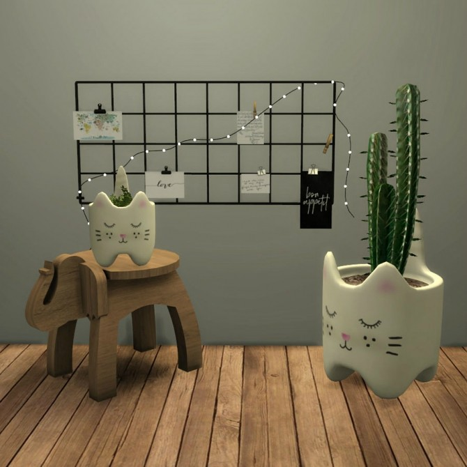 Sims 4 Cat Planter at Leo Sims