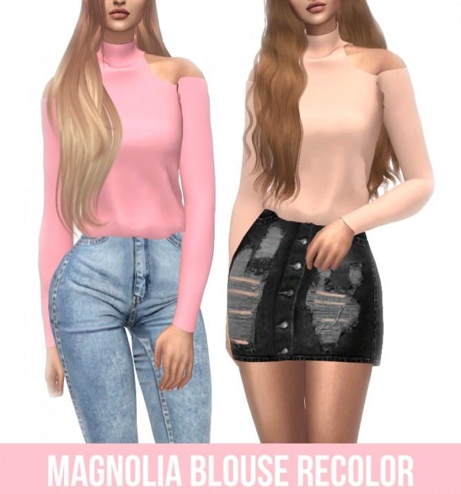 Belaloallure Magnolia Blouse Recolor at Kenzar Sims image 17112 670x719 Sims 4 Updates