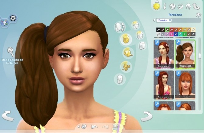 Side Ponytail Conversion At My Stuff 187 Sims 4 Updates