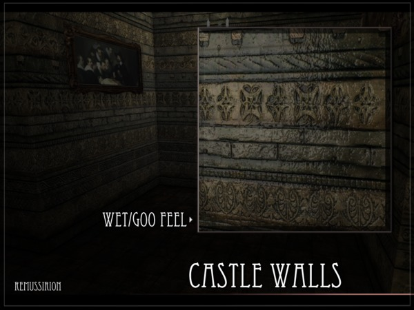 Castle Walls by RemusSirion at TSR image 1716 Sims 4 Updates