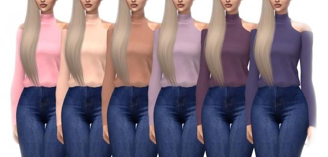Belaloallure Magnolia Blouse Recolor at Kenzar Sims image 17210 670x320 Sims 4 Updates